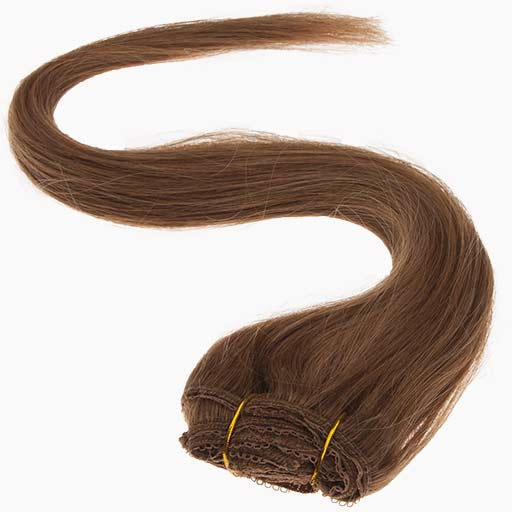 Clip in Extensions 38cm 70g 08 Hellbraun-1254