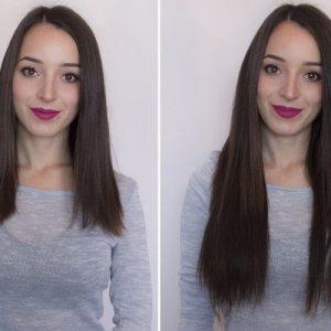 "Flip in Hair Extensions 16"" 140g - Premium-0"